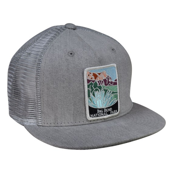 Big Bend National Park Trucker Hat by LET'S BE IRIE  Gray