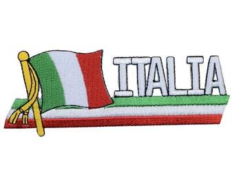 "Italy Applique Patch - Italia, Mediterranean, Rome, Europe 4-7/8"" (Iron on)"