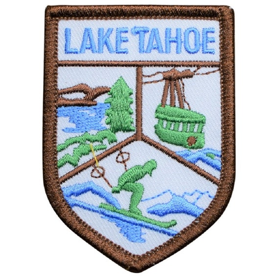 California and Nevada Vintage Lake Tahoe Patch Sew on