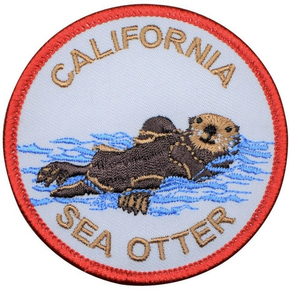 High-quality Iron-on Embroidered Patch by Tim Ward California Sea Otter