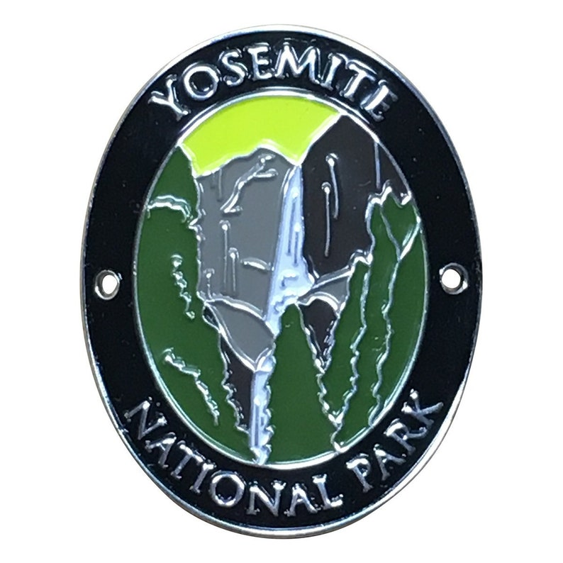 35370cc5ca3 Yosemite National Park Walking Stick Medallion Upper and