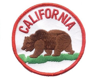 California Grizzly Bear Patch (Iron on)