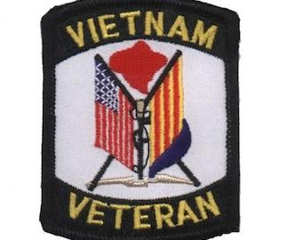 Vietnam Veteran Patch (Iron on)