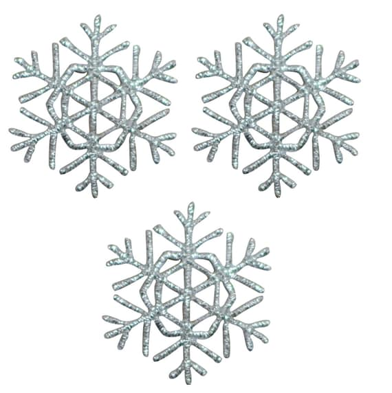 Silver Snowflake Applique Patch Iron on