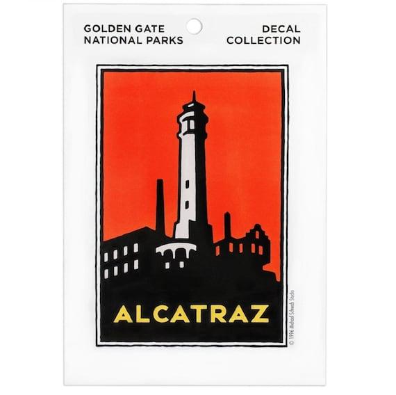 Alcatraz Prison   San Francisco  CA   Vintage Looking Travel Decal Label Sticker