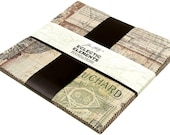 Tim Holtz Foundations Eclectic Elements 10 quot x 10 quot squares 42 piece Charm Pack Layer Cake 100 woven cotton quilting fabric 3