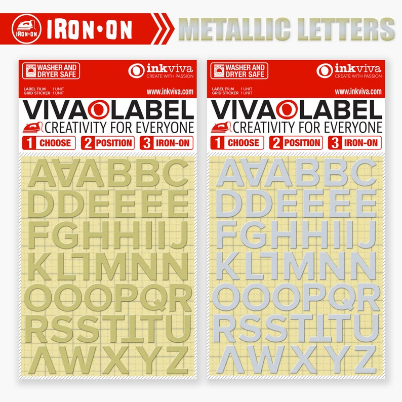 e70381664 Iron On Letter Transfer / Metallic Iron On Letters / Iron On | Etsy