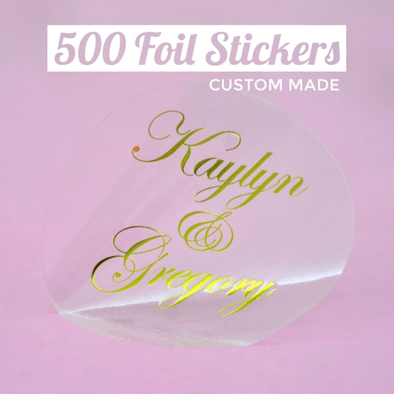 500 custom foil stickers gold foil sticker foil print