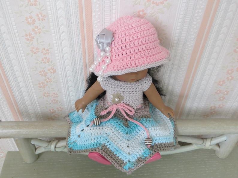 Fiche patron  MC 27 v\u00eatements \u00e0 confectionner au crochet  poup\u00e9e 20 cms Mini Corolline