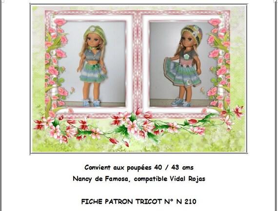 Fiche Patron Pdf N210 Vêtement Compatible Poupée Nancy Famosa 4244 Cms