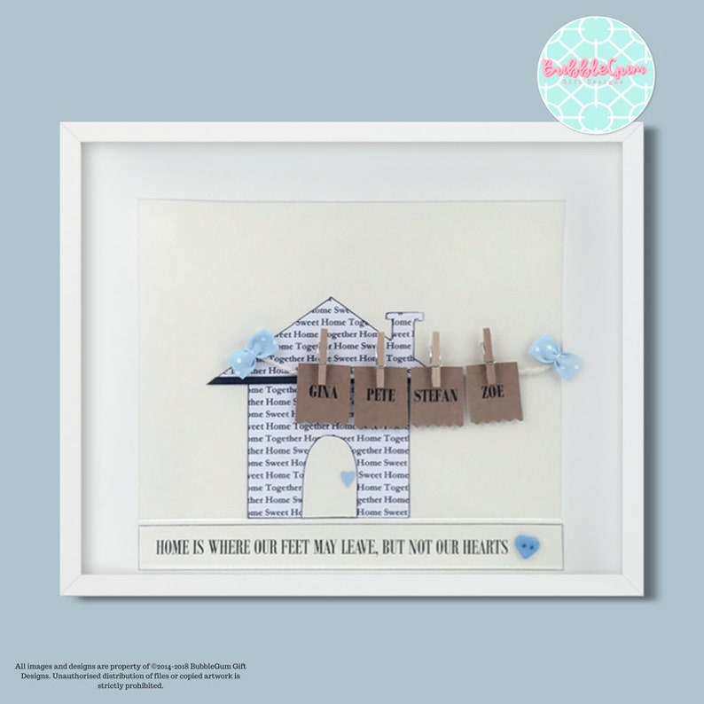 Personalised New Home Word Art Gift Keepsake House Warming New Home Family Gift