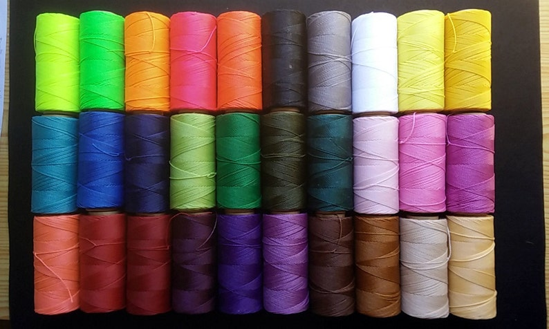 170 meters coil brand waxed thread LINHASITA 30 colors to image 0