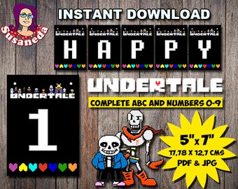 Undertale party | Etsy
