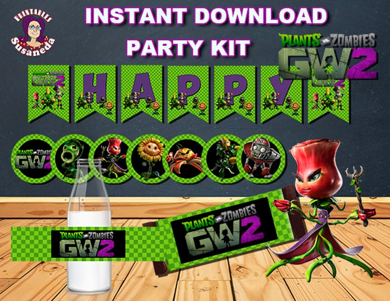 Pvz Garden Warfare 2 Party Kit In Englishinstant Download Etsy