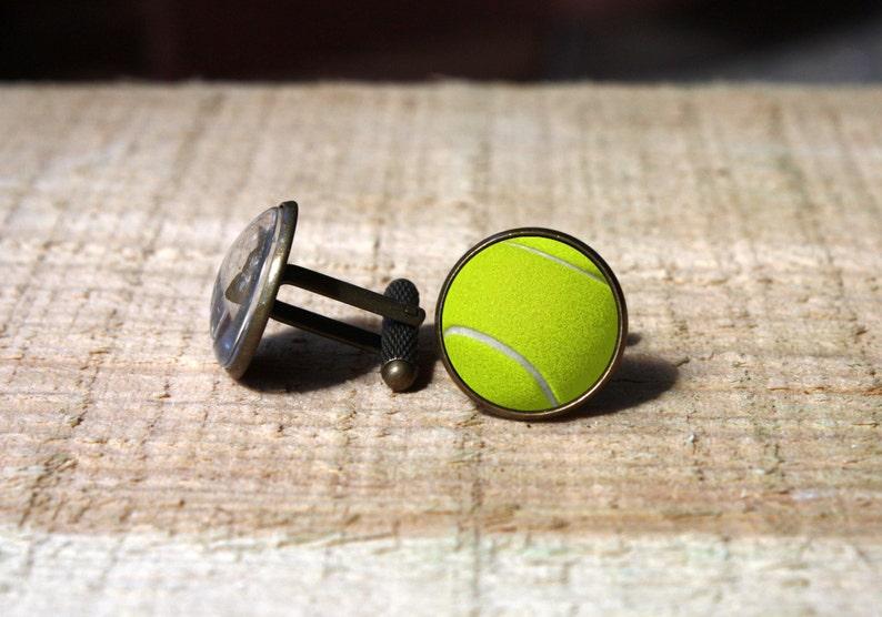 nekel free custom wedding cuff link Sports ball cuff links tennis player gift for him Tennis ball Cufflinks