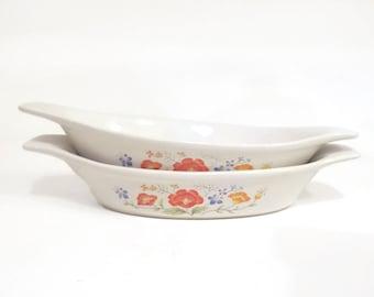 Two Vintage Interpur Stoneware Dishes