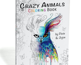 Limited Edition Coloring Book Crazy Animals