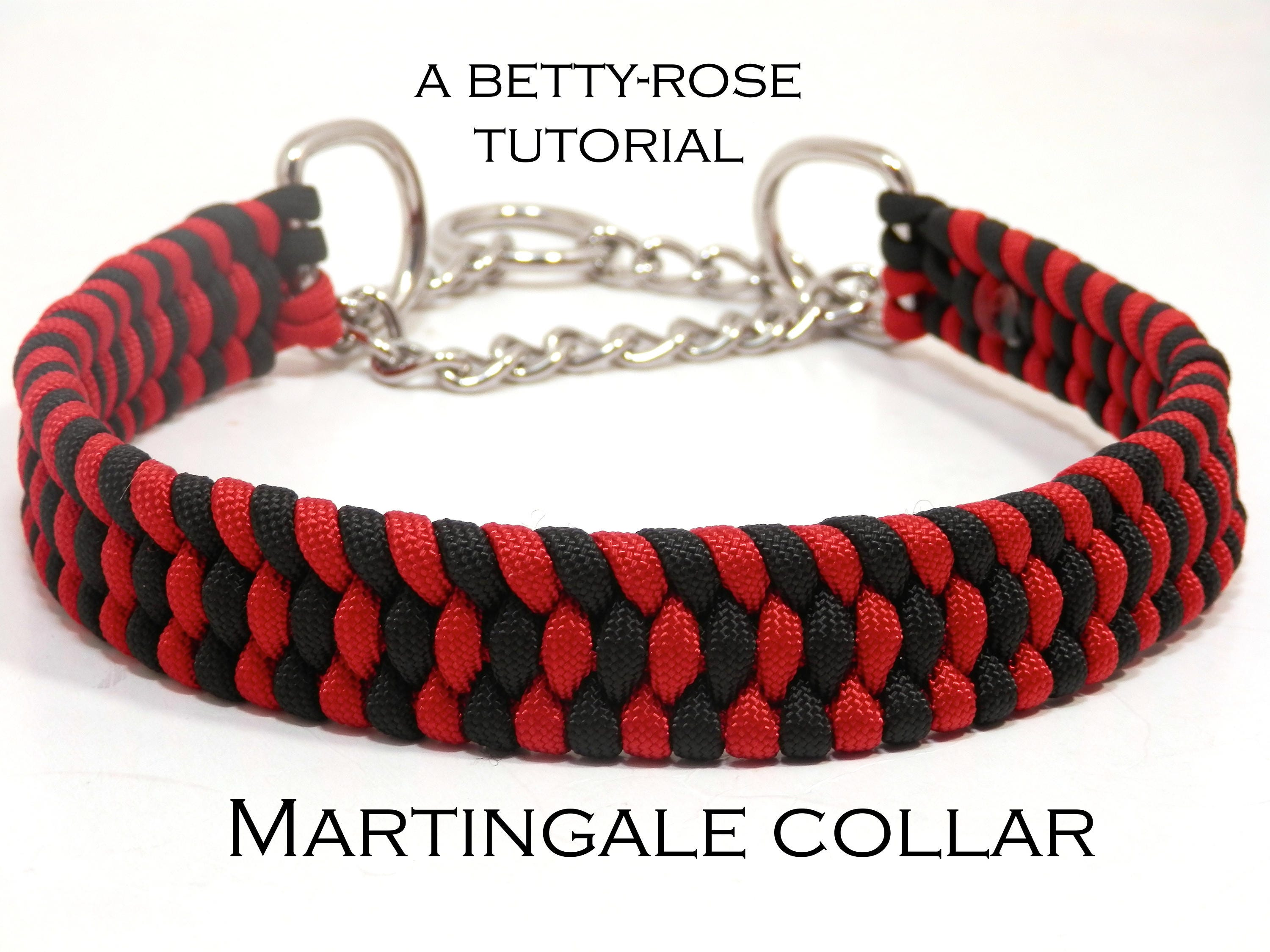Tutorial For Paracord Martingale Dog Collar Instant Download Etsy