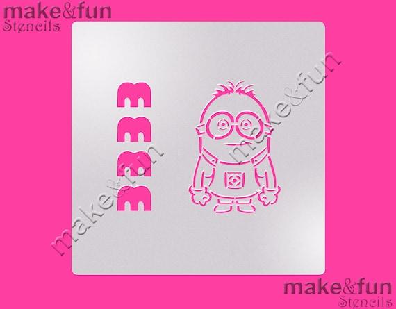 Pyo cookie stencil cake stencil minions stencil pochoir maxwellsz