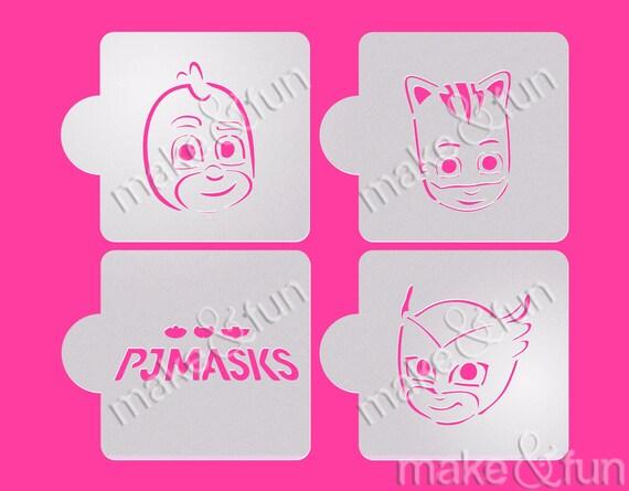 PJ Masks Cookie Stencil Cupcake Stencils Cake Stencil Set