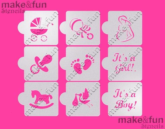 Wonderful 9 Pcs Baby Shower Cookie Stencil, Airbrush, Cake Stencil, Face Painting  Stencil, Schablonen Kuchen From Makeandfun On Etsy Studio