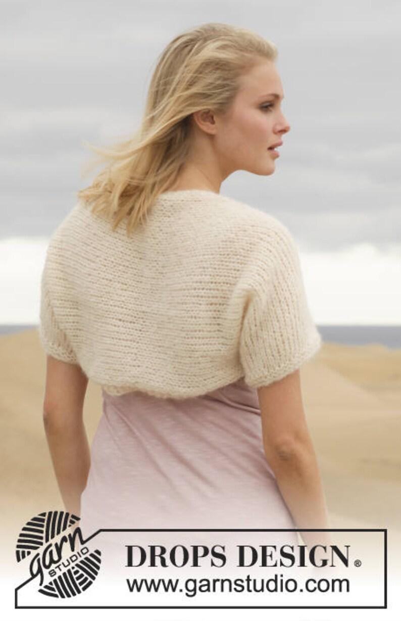 11a3e70d839 Alpaca silk knit shrug soft bolero hand knit made to