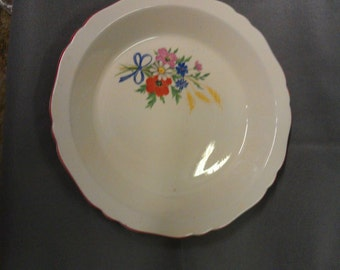 Vintage Crown Ovenware China Pie Plate