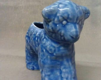Blue with Beige Lamb-Sheep Planter