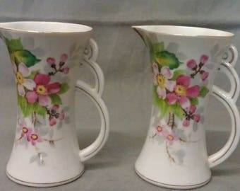 Ucagco China Hand Painted Pitchers trimmed in Gold