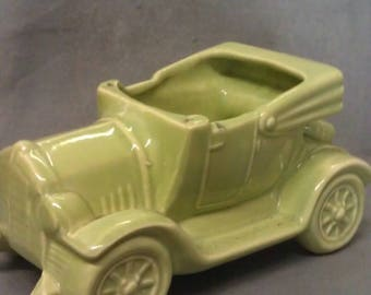 Car Automibile Green Pottery Planter