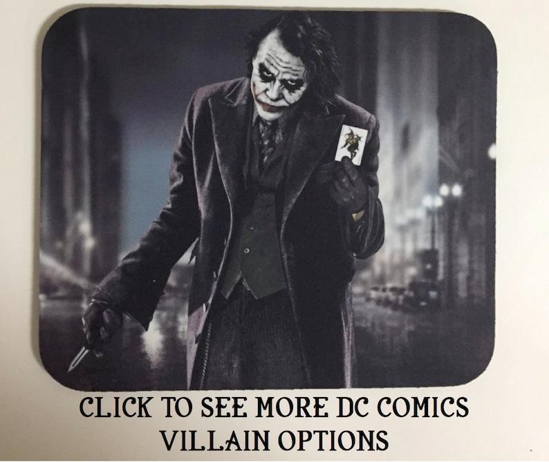 DC Comics Villains Mousepads Mouse Pad Joker Harley Quinn Deathstroke  Doomsday Catwoman Poison Ivy Zoom Lex Luthor Bane Killer Frost