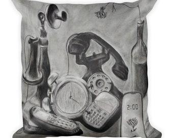 Phone Evolution Pillow
