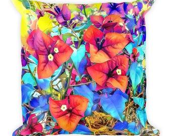 Bougainvillea Red Pillow