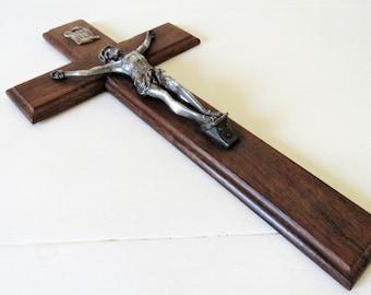 Antique French Wall Crucifix, Antique Crucifix, French Wall Crucifix