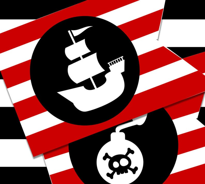 image regarding Pirate Flag Printable titled Printable Pirate Celebration Flags for Little ones