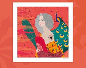 Print of Midlife Woman Illustration