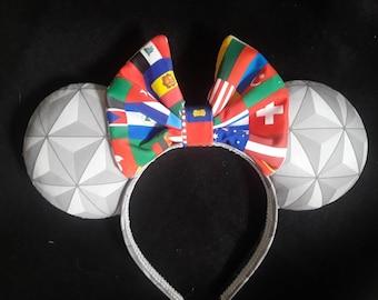New Epcot Handmade Custom Mouse Ears inspired by Disney, Epcot ears