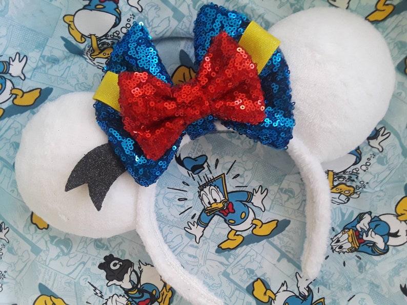Handmade Donald Duck Custom Mouse Ears inspired by image 0