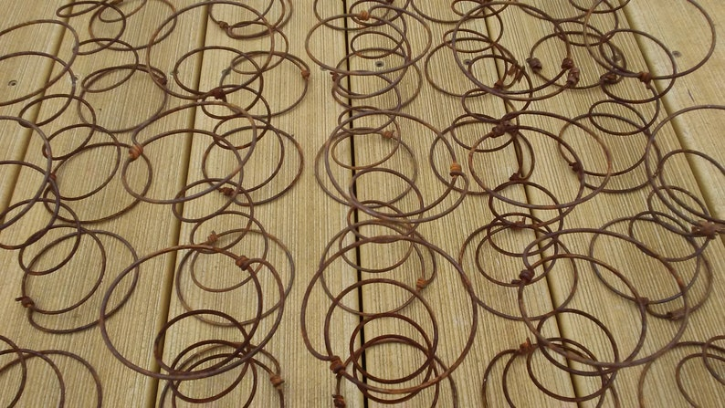 Lot of 25 Rusty Bed Springs vintage farmhouse rustic country image 0