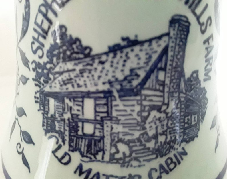 Vintage Bell Shepherd of the Hills Farm Old Matt/'s Cabin Branson Missouri Travel Souvenir Small Blue Collectible Bell