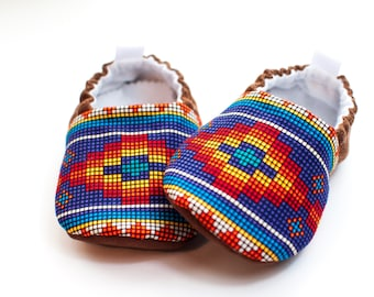 Boys Shoes, Girls Shoes, Western Baby Shoes, Toddler Shoes, Baby Moccasins, Tribal Baby, Soft Soled Shoes
