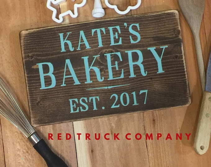 Bakery Sign For Kitchen. Custom Bakery Sign. New Home Gift. Farmhouse Kitchen Decor. Rustic Kitchen Art. Bakery Art. Wedding Gift. Bridal