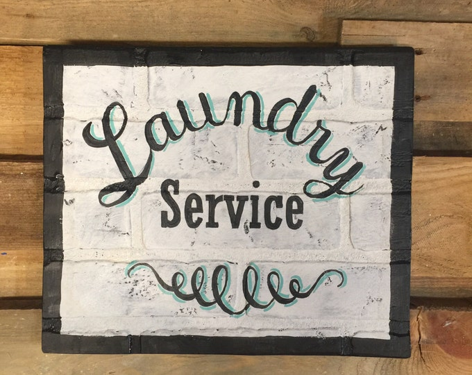 Laundry Room Decor. Laundry Room Sign. Vintage Laundry Sign. Vintage Signs Wood. Farmhouse Wall Decor. Kitchen Wall Decor. Wash and Dry Sign