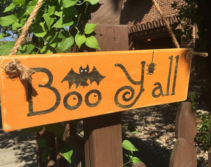 Boo Y'all Vintage Style Halloween Sign