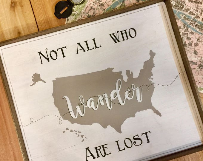 Not All Who Wander Are Lost. Adventure Awaits. Travel Decor. Wander are Lost. Camping Decor. Adventure Book. Camping Gift. Camping Signs.