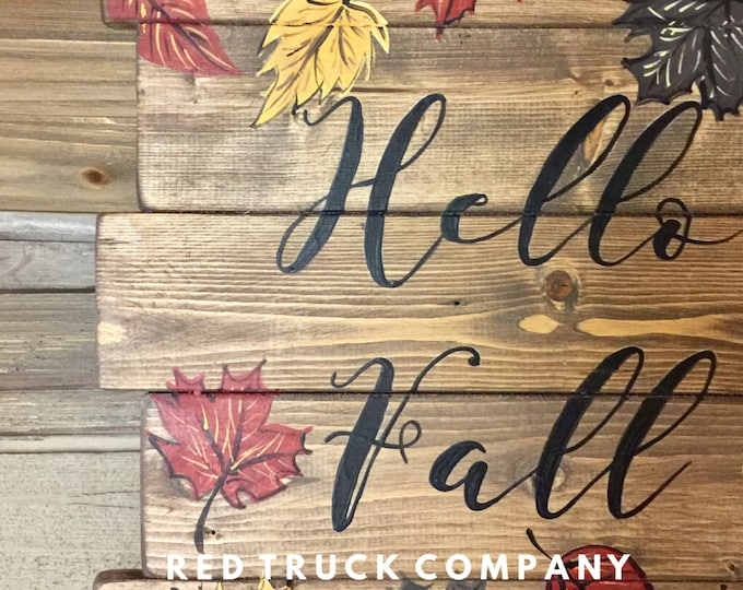 Hello Fall Pallet sign