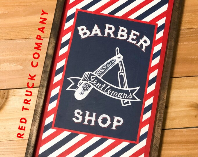 Barber Shop Sign. Hair Salon Decor. Vintage Barber. Vintage Salon. Father's Day Gift. Beard. Mancave Decor. Fixer Upper Decor. Guy Gifts.