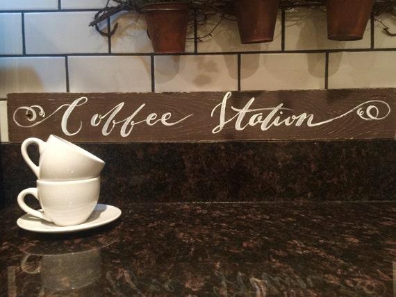 Coffee Station Sign Rustic Coffee Sign Coffee Bar Wedding Etsy
