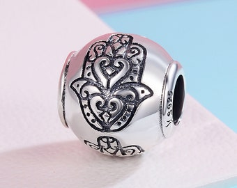 7ec2d5e0c Sterling 925 silver charm the buddha floral bead pendant fits Pandora charm  and European charm bracelet