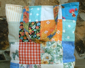 Multi Colored Scrap Fabric Bag